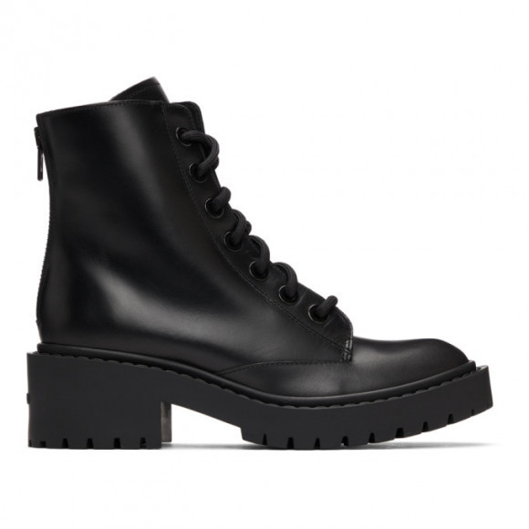 Kenzo Black Pike Lace-Up Boots - FA62BT340L62