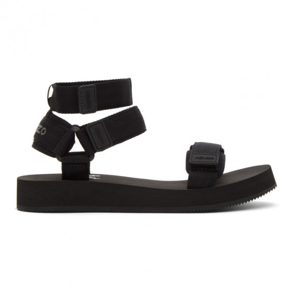 Kenzo Black Papaya Sandals - FA62SD256F58