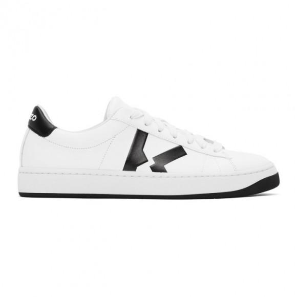 Kenzo White K-Logo Kourt Sneakers - FA62SN170L50