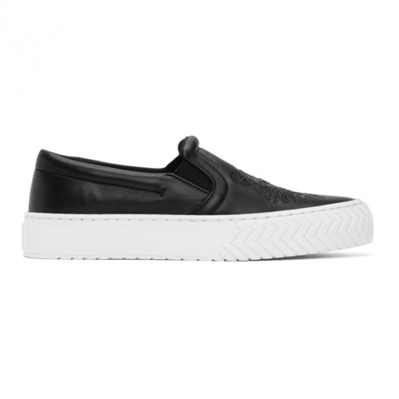 Kenzo Off-White Leather K-Skate Sneakers - FA62SN200L73