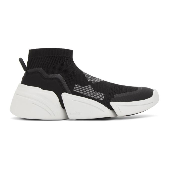 Kenzo Black K-Sock Sneakers - FA62SN452F65
