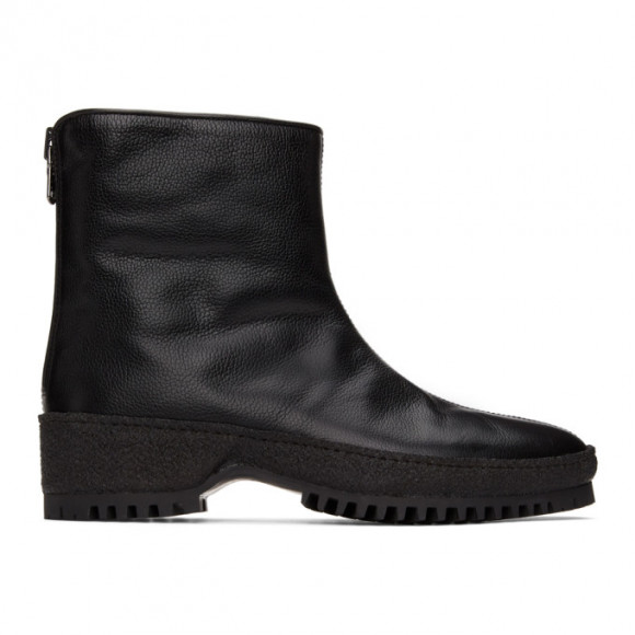 Kenzo Black Grained Leather Chelsea Boots - FA65BT019L55-06L55.99