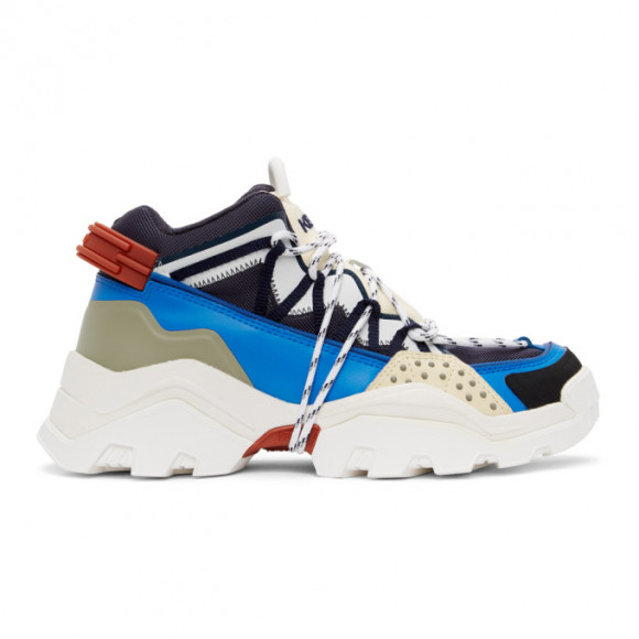 Kenzo Blue and Off-White Inka Sneakers - FA65SN302F57