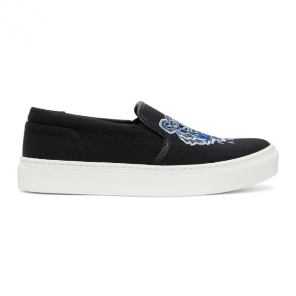Kenzo Black Tiger K-Skate Slip-On Sneakers - FB52SN100F70