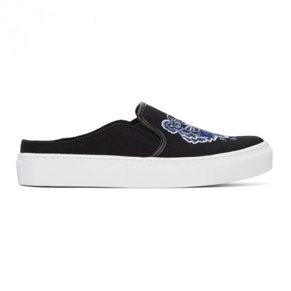 Kenzo Black Tiger K-Skate Slip-On Sneakers - FB52SN105F70