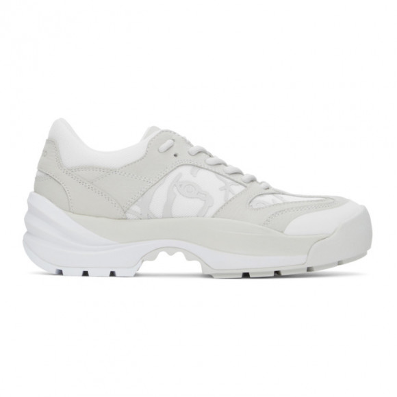 Kenzo Grey and White Work Sneakers - FB52SN500L68