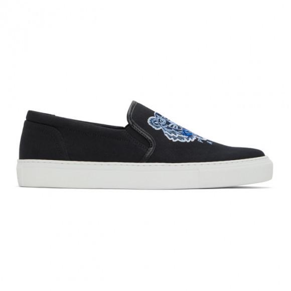 Kenzo Black K-Skate Slip-On Sneakers - FB55SN100F70
