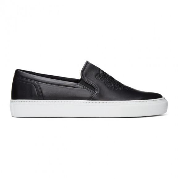 Kenzo Black K-Skate Slip-On Sneakers - FB55SN100L73