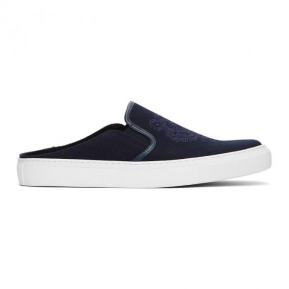 Kenzo Navy Tiger K-Skate Slip-On Sneakers - FB55SN105F70