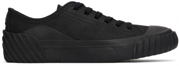 Kenzo Black Leather Tiger Crest Sneakers - FB65SN430L61