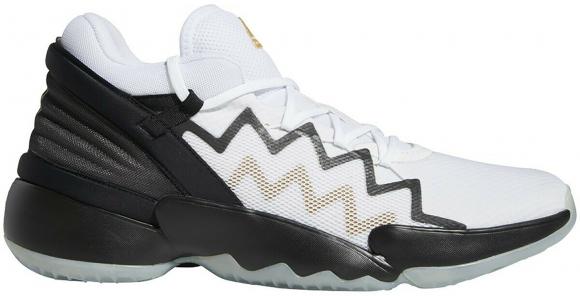 adidas DON Issue 2 White Black Gold - FU7384