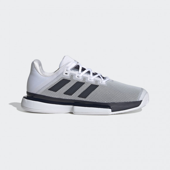 adidas SoleMatch Bounce Hard Court Shoes Cloud White Mens - FU8118