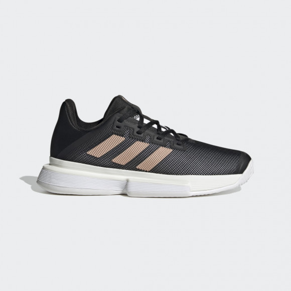 adidas SoleMatch Bounce Hard Court Shoes Core Black Womens - FU8125