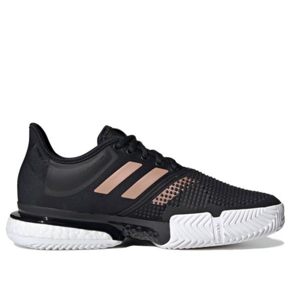 adidas SoleCourt Shoes Core Black Womens - FU8133