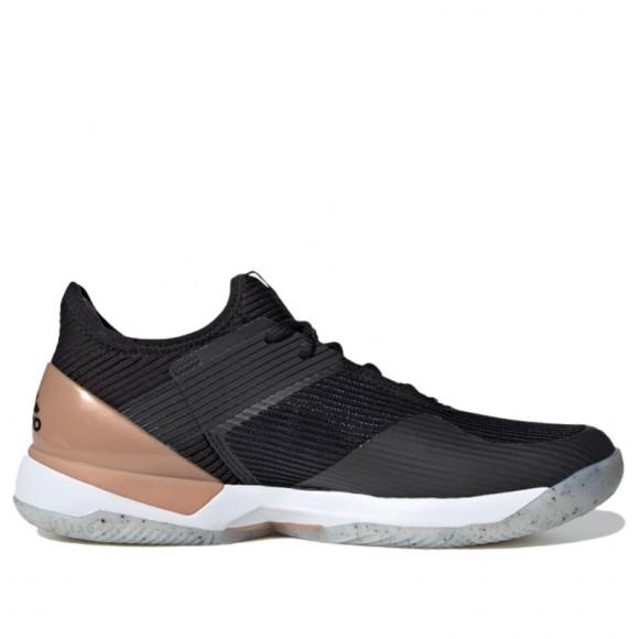 adidas Ubersonic 3 Hard Court Shoes Core Black Womens - FU8153