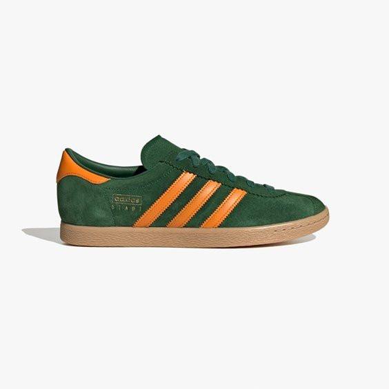 Mens adidas Originals Stadt - Green, Green - FV1216