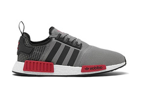 Adidas NMD_R1 'Grey Scarlet' Grey Three/Core Black/Scarlet FV3856 - FV3856