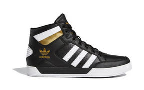 Adidas Hard Court High 'Black White Gold' Black/White/Gold Metallic Sneakers/Shoes FV5327 - FV5327