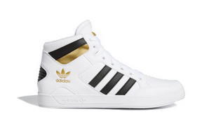 Adidas Hard Court High 'White Black Gold' White/Black/Gold Metallic Sneakers/Shoes FV5329 - FV5329