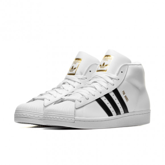 adidas Originals White Pro Model High-Top Sneakers - FV5722