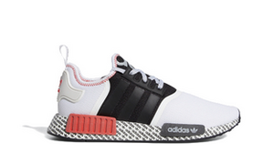Adidas NMD_R1 'Print Boost - White Black Red' White/Black/Lush Red FV7848 - FV7848