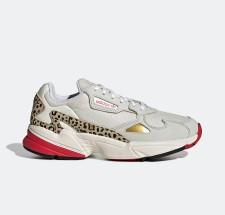 Rodeo Tomar represalias Criticar  Adidas Womens WMNS Falcon 'Leopard' Chalk White/Off White/Scarlet Marathon  Running Shoes/Sneakers FV8079 - FV8079