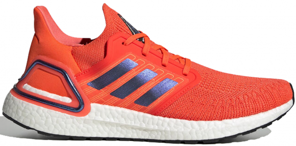 adidas UltraBOOST 20 Solid Red/ Blue Vime/ Ftw White - FV8449