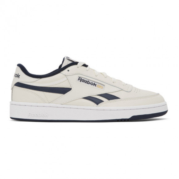 Reebok Classics Off-White and Navy Club C Revenge Sneakers - FV9878