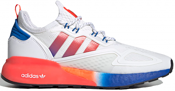 adidas ZX 2K Boost White Solar Red Blue - FV9996