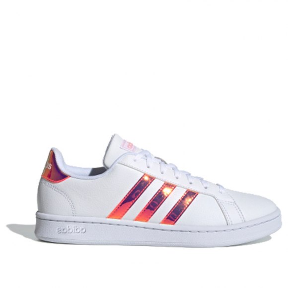 Adidas Neo Womens WMNS Grand Court 'Pink Iridescent' White/Pink Sneakers/Shoes FW5722 - FW5722