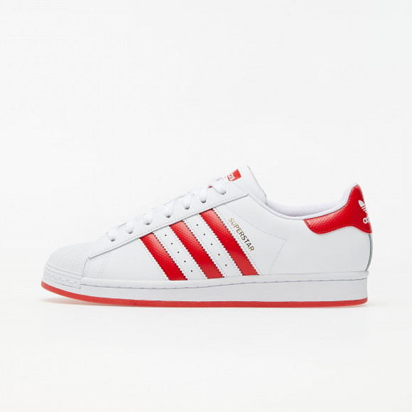 adidas Superstar Ftw White/ Lust Red/ Gold Metalic - FW6011