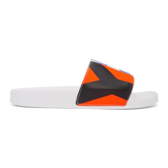 Y-3 White Graphic Adilette Sandals - FW9742
