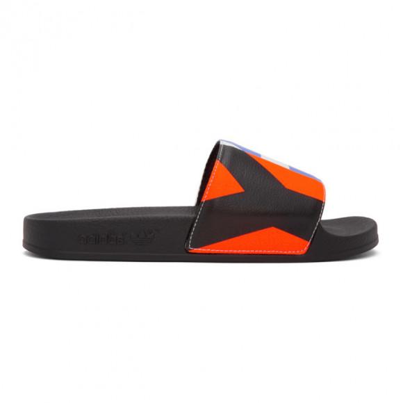 Y-3 Black Graphic Adilette Sandals - FW9743