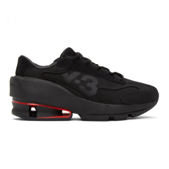 Y-3 Black Sukui II Panelled Mesh Sneakers - FX0793-FTW-6-D1