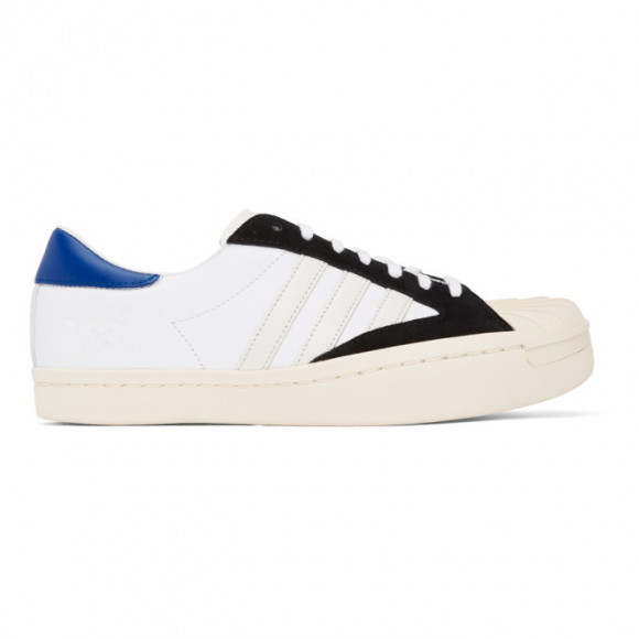 Y-3 White and Black Yohji Star Sneakers - FX0895-FTW-34-D2