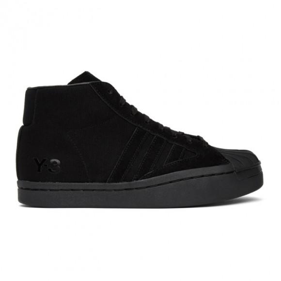 Y-3 Black Yohji Pro High-Top Sneakers - FX0897