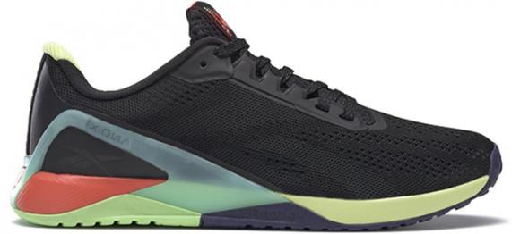 Reebok Nano X1 'Black Multi' Black/Night Black/Digital Glow Marathon Running Shoes/Sneakers FX3241 - FX3241
