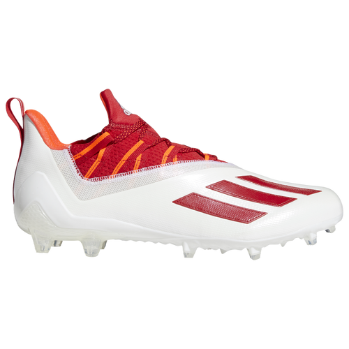 adidas adiZero 11.0 - Men's Molded Cleats Shoes - White / Power Red / Solar Red - FX4227