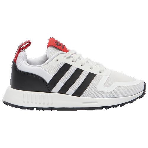 adidas Originals Multix - Boys' Grade School Running Shoes - White / Black / Scarlet