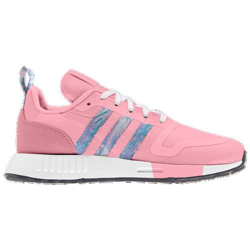 adidas Originals Smooth Runner - Girls' Grade School Running Shoes - Hazy Rose / White / Black