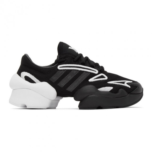 Y-3 Black and White Ren Sneakers - FX7255-FTW-4-D1