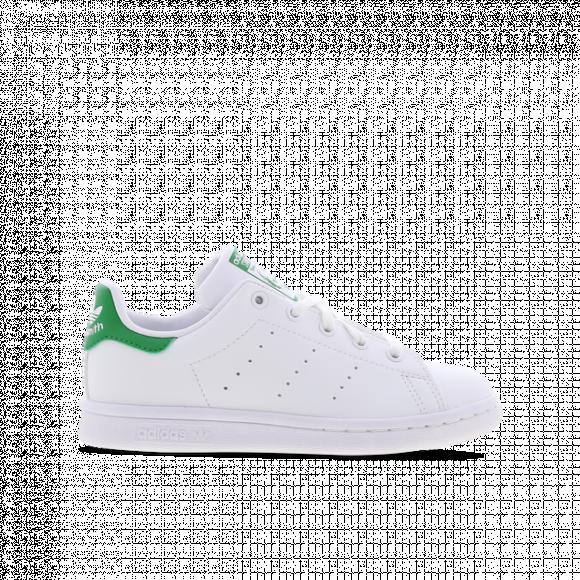 adidas Originals Stan Smith - Boys' Preschool Tennis Shoes - White / White / Green - FX7524