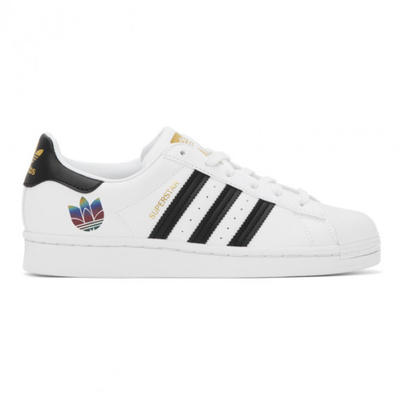 adidas Originals White and Black Superstar Sneakers - FX8543