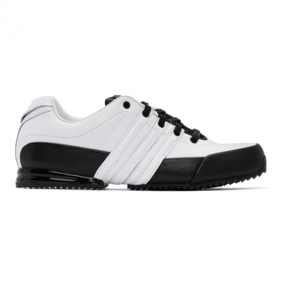 Y-3 White and Black Leather Sprint Sneakers - FY1536-FTW-29-D2