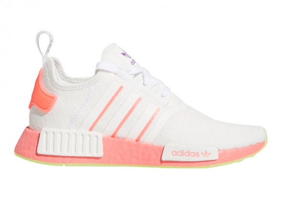 adidas Originals NMD R1 - Women's Running Shoes - White / Semi Flash Red / Signal Pink