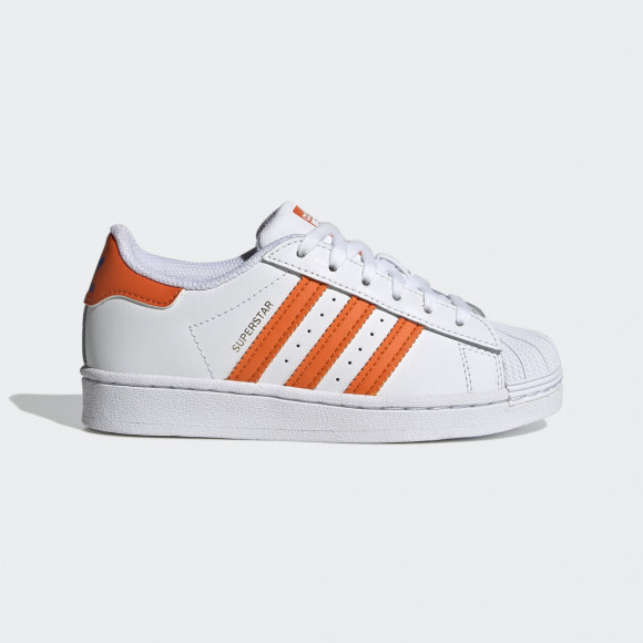 Superstar Bi Ton Blanc/orange/bleu - Enfant - - FZ0650