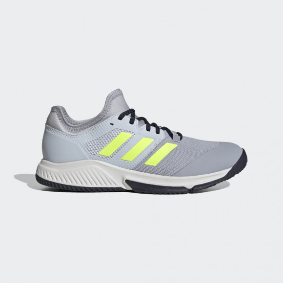 adidas Court Team Bounce Indoor Shoes Halo Silver Mens - FZ2614
