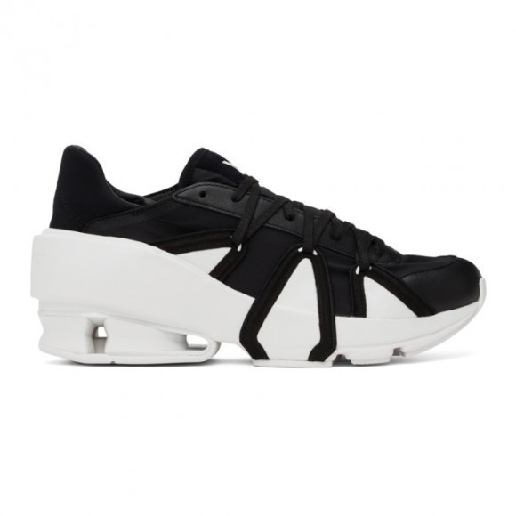 Y-3 Black and White Sukui III Sneakers - FZ4337
