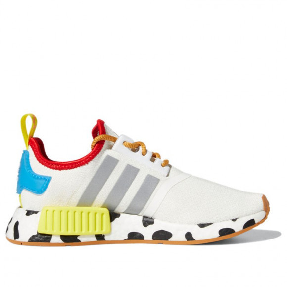 Adidas Toy Story x NMD_R1 J 'Sheriff Woody' Cloud White/Silver Metallic/Bright Yellow Marathon Running Shoes/Sneakers FZ4540