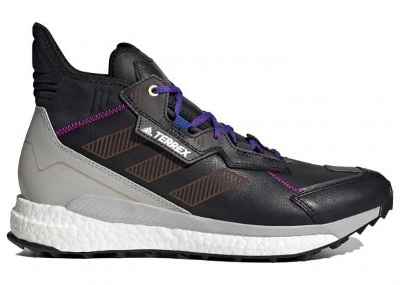 adidas Terrex Free Hyperblue Mid Hiking Shoes Core Black Mens - G55460